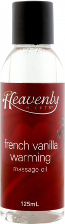 Heavenly Nights French Vanilla Warming Massage Oil 125ml
