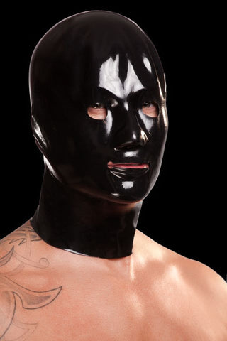 Saxenfelt Rubber Latex Mens Hood - Black