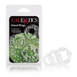 Silicone Island Rings 3 Pack With 3 Sizes - Clear