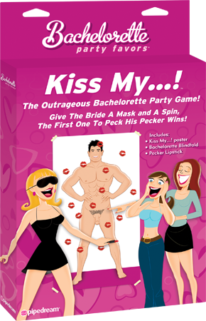 Bachelorette Kiss My...! Hen's Night Party Game