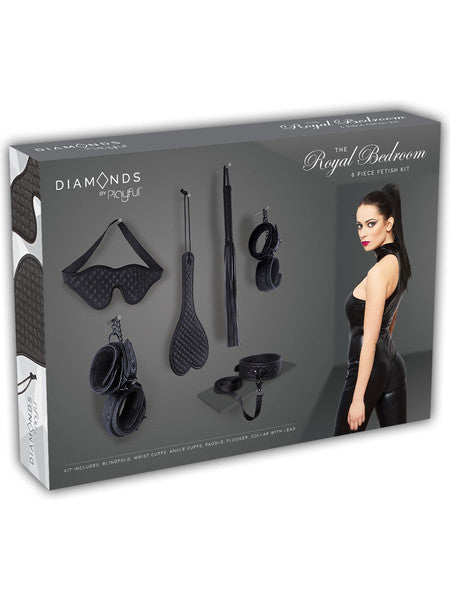 Playful Diamonds The Royal Bedroom 6 Piece Fetish Kit