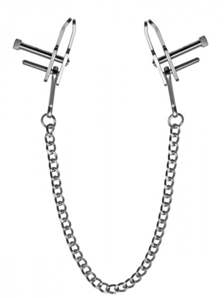 Kneel Nose to Genitals Kneeling Clamps - Bondage Toy