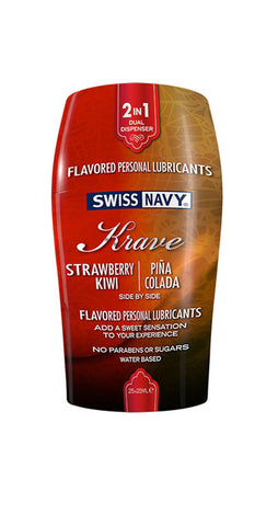 Swiss Navy Krave 2-IN-1 50ml Strawberry Kiwi & Pina Colada