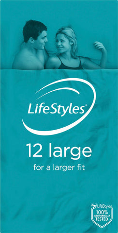 Ansell Lifestyles Condoms 12s Large