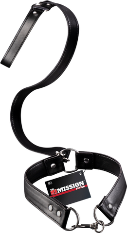 Sex Mission Black Collar With Leash