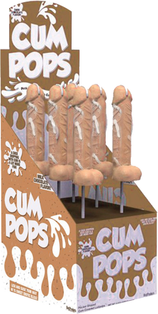 Cum Pops Milk Chocolate Flavoured Penis Shaped Lollypop - Single
