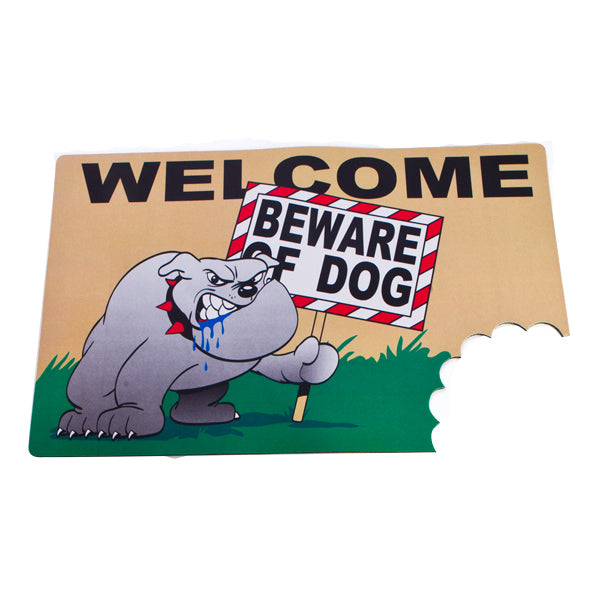 Beware of Dog Wacky Doormat Mat - Beware of the Dog