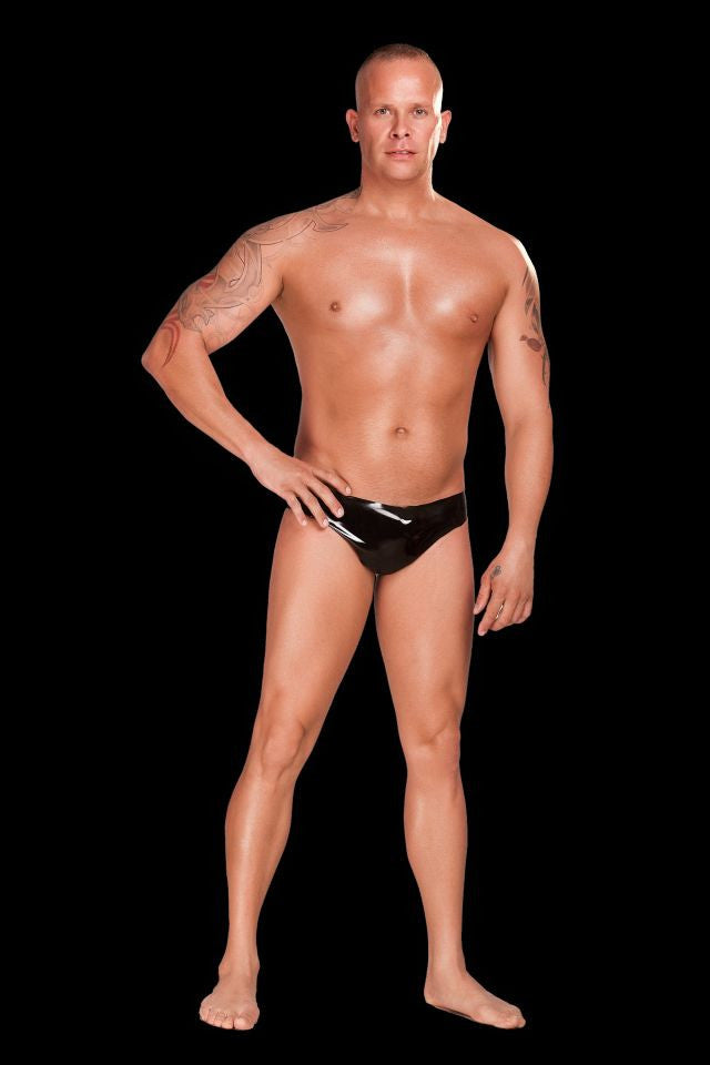 Saxenfelt Rubber Latex Mens Brief - Black Large