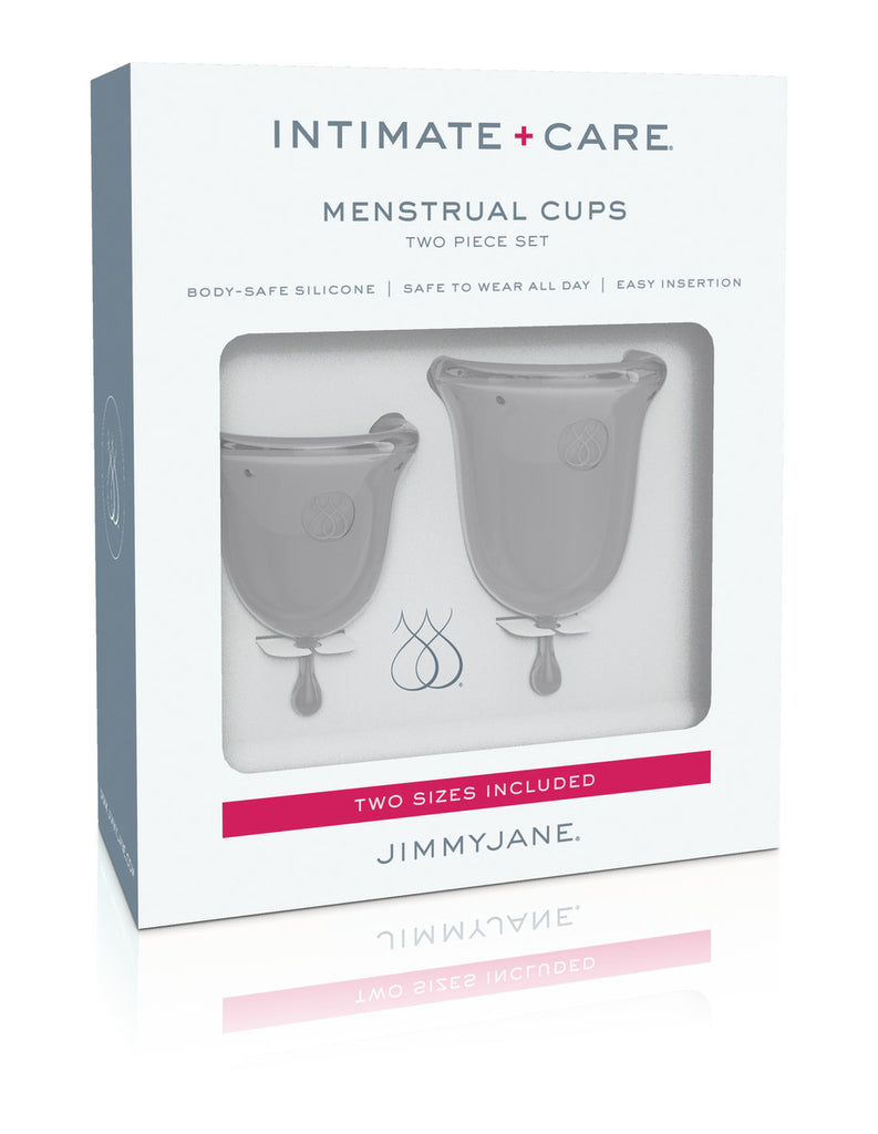 JIMMYJANE Intimate Care Menstrual Cups - Clear (2 cups Small & Regular)