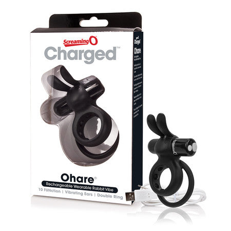 Screaming O Rechargeable Charged Ohare Vooom Mini Vibrator - Black