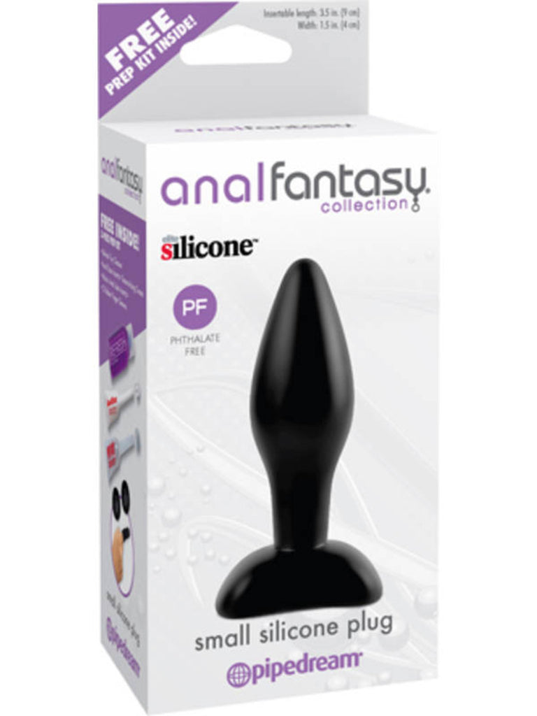 Anal Fantasy Collection Small Silicone Plug - Black