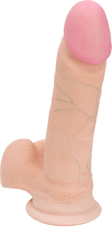 "The Realistic Cock UR3 6"" Flesh With Suction Cup by Doc Johnson"