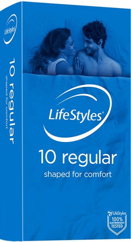 Ansell Lifestyle Regular 10 Pack Condoms