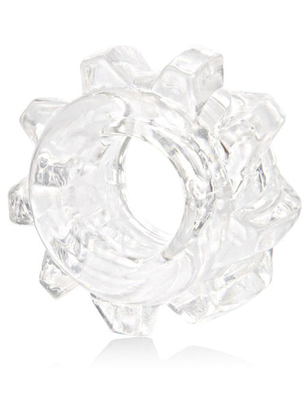 Calexotics Reversible 3 Ring Set - Clear