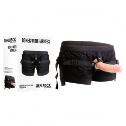 Realrock Boxer With Black Strap-On Harness (No Dong Included) Size 10 - 16