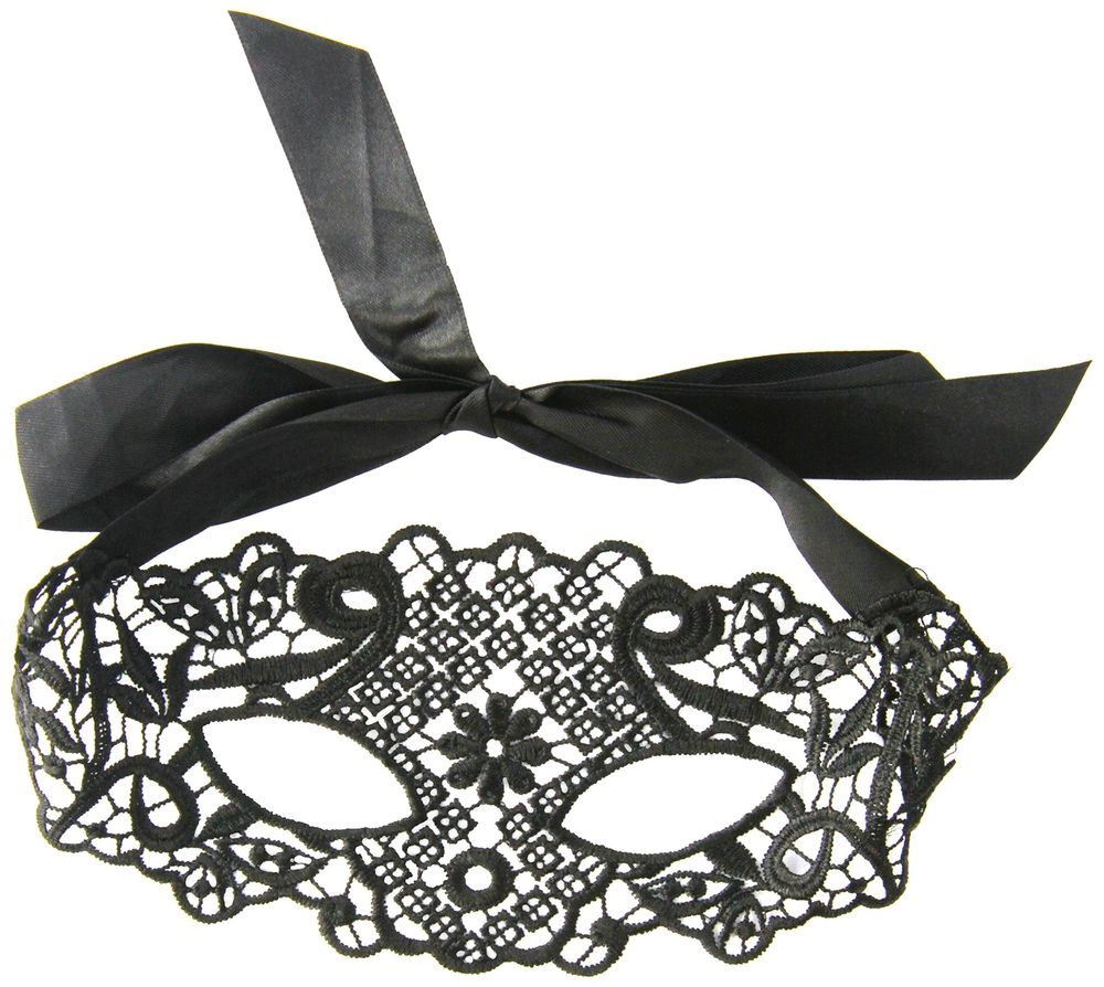 Seven Til Mightnight Lace Mask - Black One Size - 40132