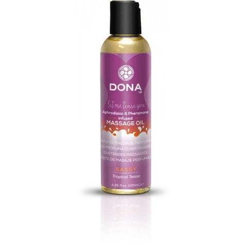 Dona Scented Massage Oil Sassy Aroma: Tropical Tease 4 oz