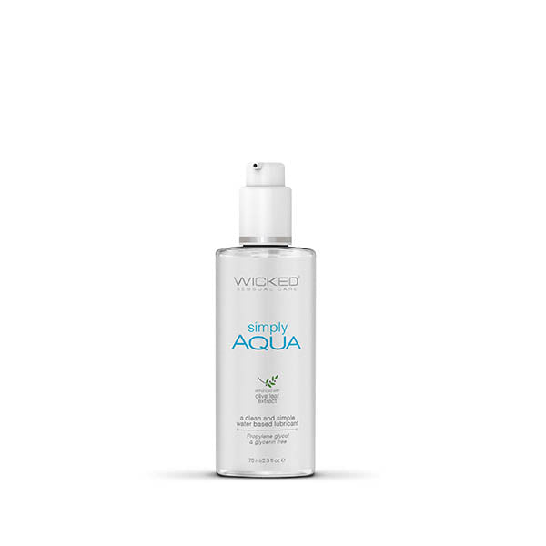 Wicked Simply Aqua Waterbased Lubricant 70mL 2.3oz