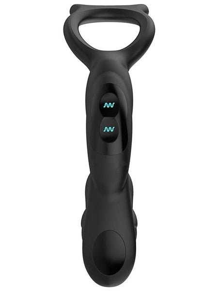Nexus Simul8 Rechargeable Vibrating Dual Motor Vibrating Anal Penis and Testicle Toy Black