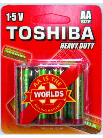 Toshiba AA Heavy Duty Carded Batteries (4 pack)
