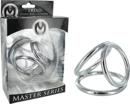 Master Series - Triad 3 Ring Chamber 2.0 - Metal Cock Cage