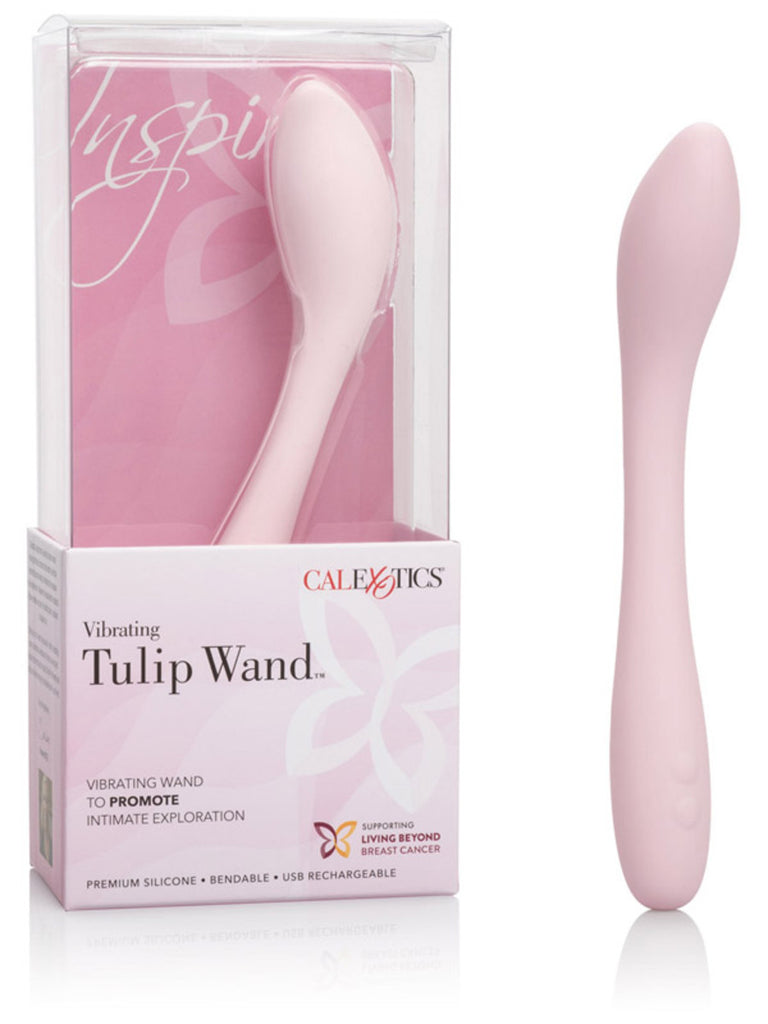 Inspire Tulip Wand Vibrator Silicone Pink