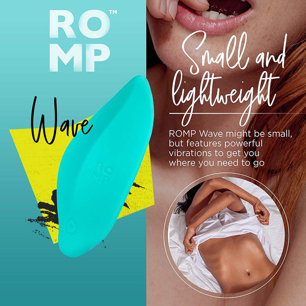 ROMP Wave - Clitoral Massage Vibrator Waterproof Rechargeable Vibrating Massager with 6 Modes & 4 Patterns | Green