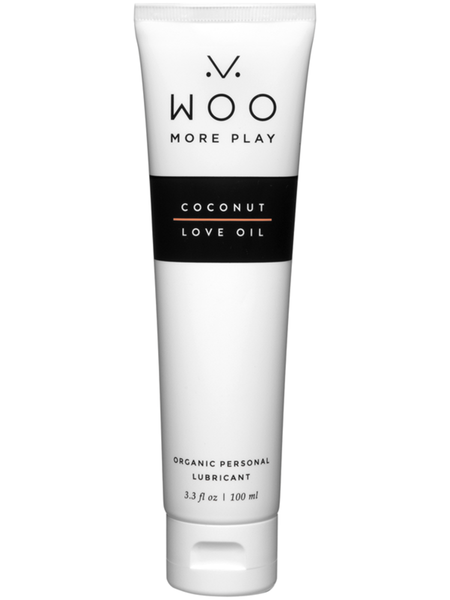 Woo More Play Coconut Love Oil Organic Personal Lubricant 100mL