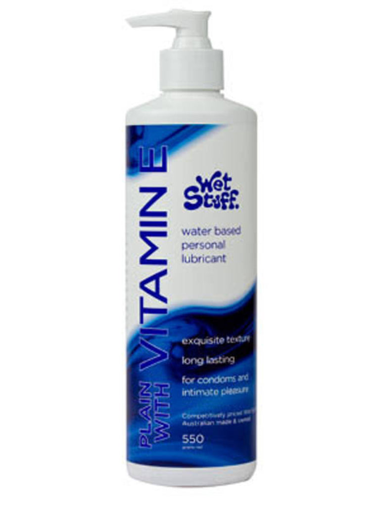 Wet Stuff Vitamin E Water Based Lubricant 550g Pump