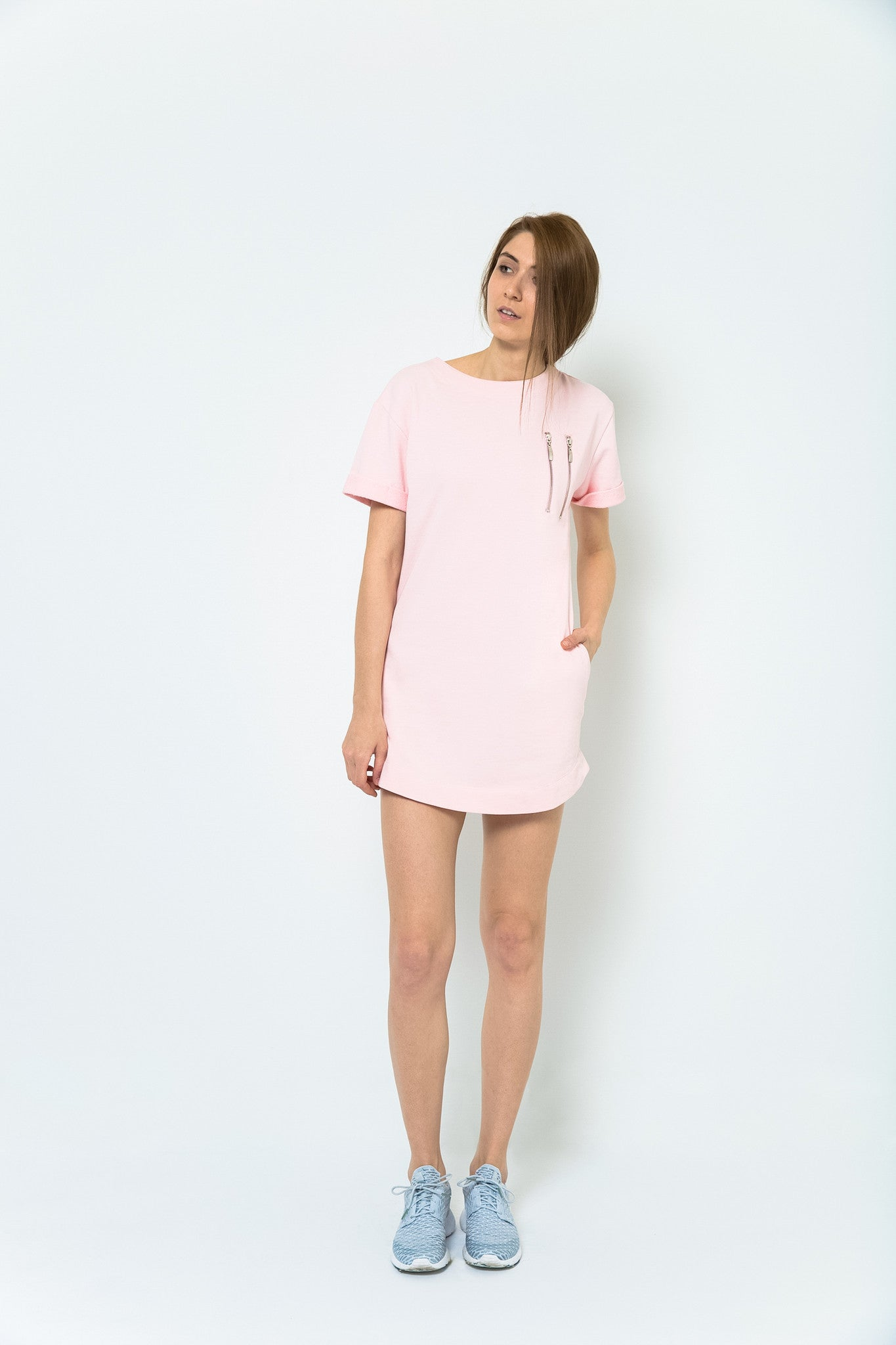 Hemingway + Coffee T-Shirt Dress - Kyoto Pink