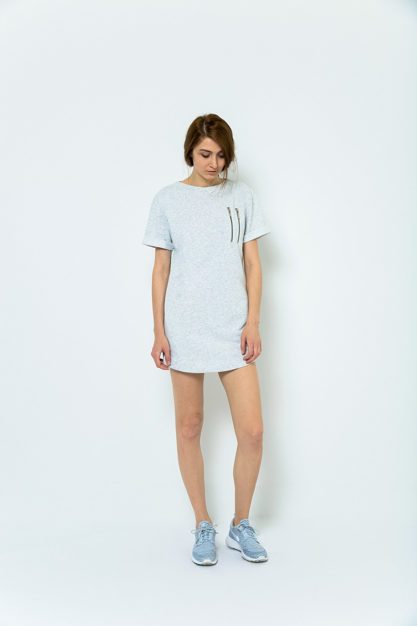 Hemingway + Coffee T-Shirt Dress - Morning Mist