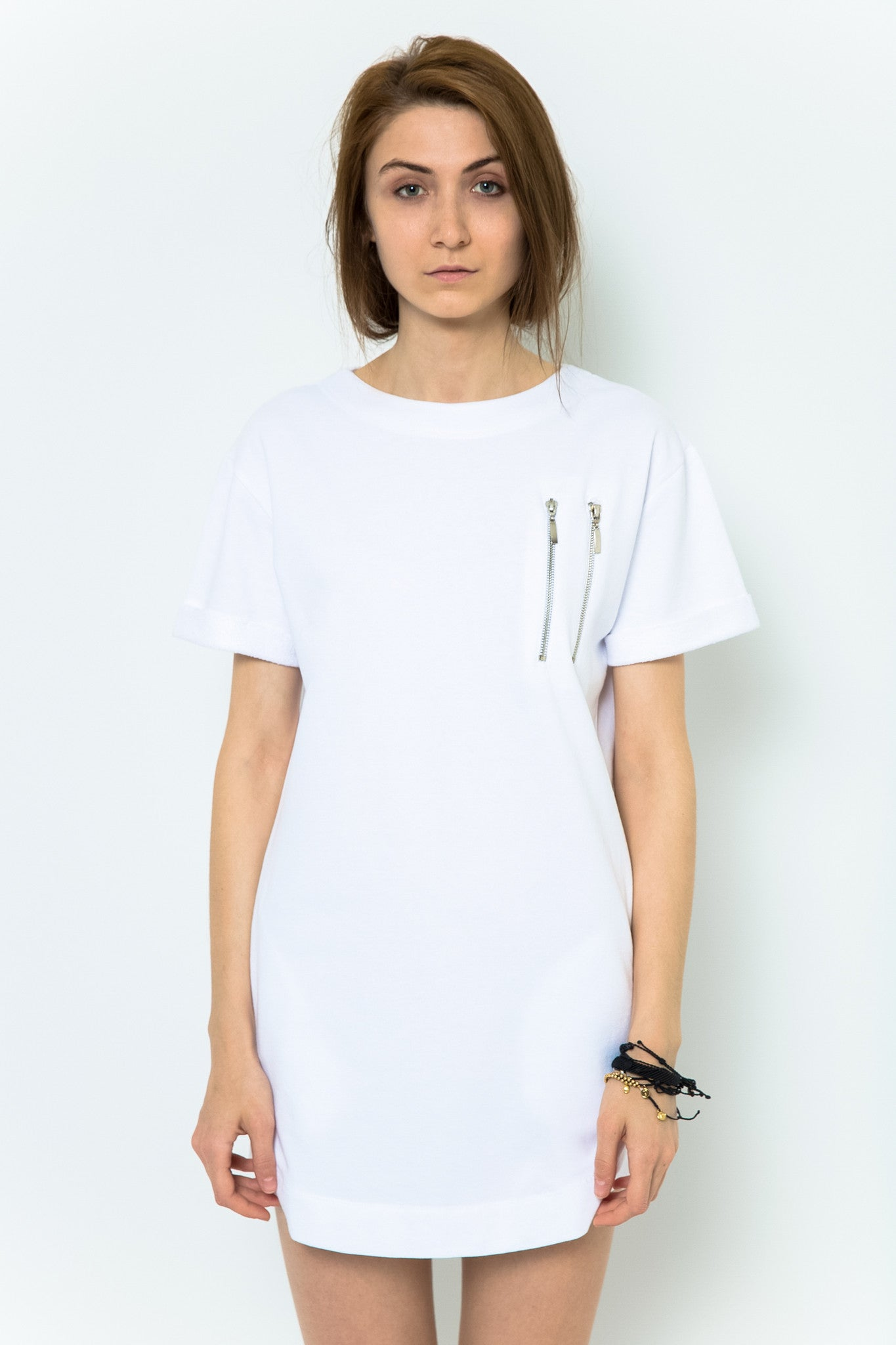 Hemingway + Coffee T-Shirt Dress - Egg White Scramble