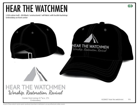 Hear the Watchmen Baseball Hats