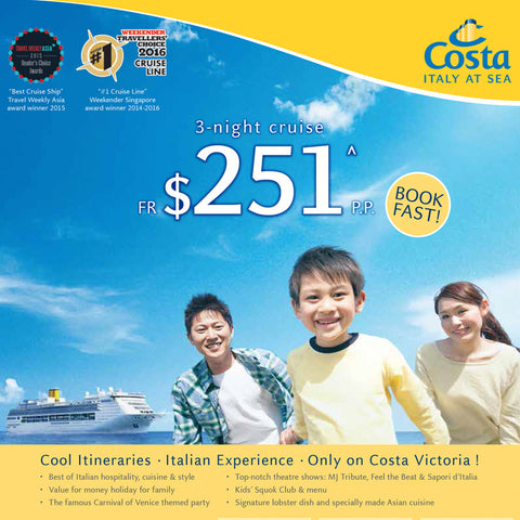 3-Night Costa Cruise