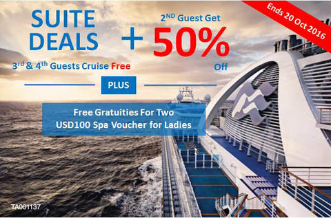 Save 50% for 2nd Guest on Princess Cruise