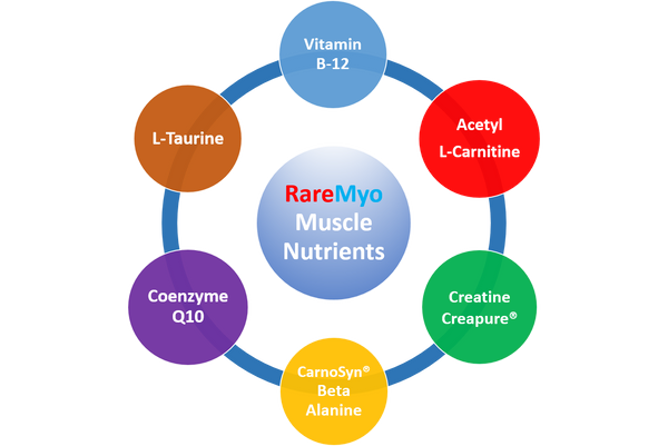 6 Muscle Supplement Nutrients found in RareMyo