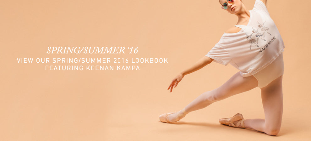 Keenan Kampa for Cloud & Victory's Spring/Summer collection of ballet clothing and dancewear