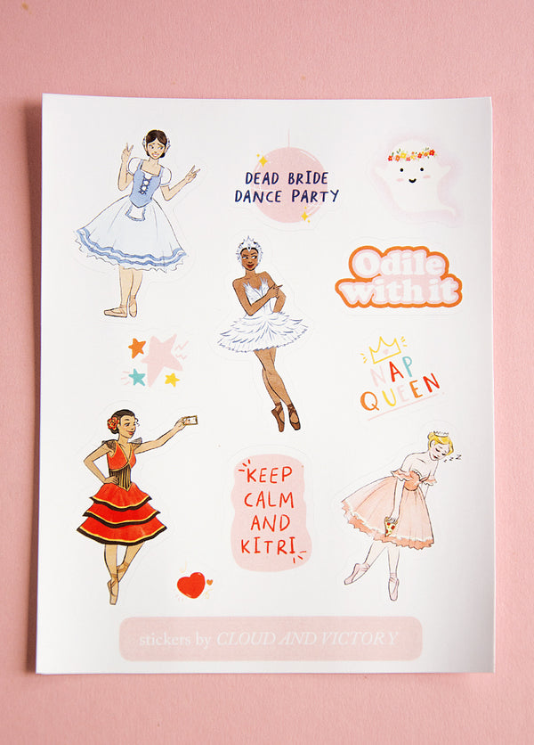 Ballet Sticker Pack II - Ethical dancewear and ballet clothing by Cloud and Victory