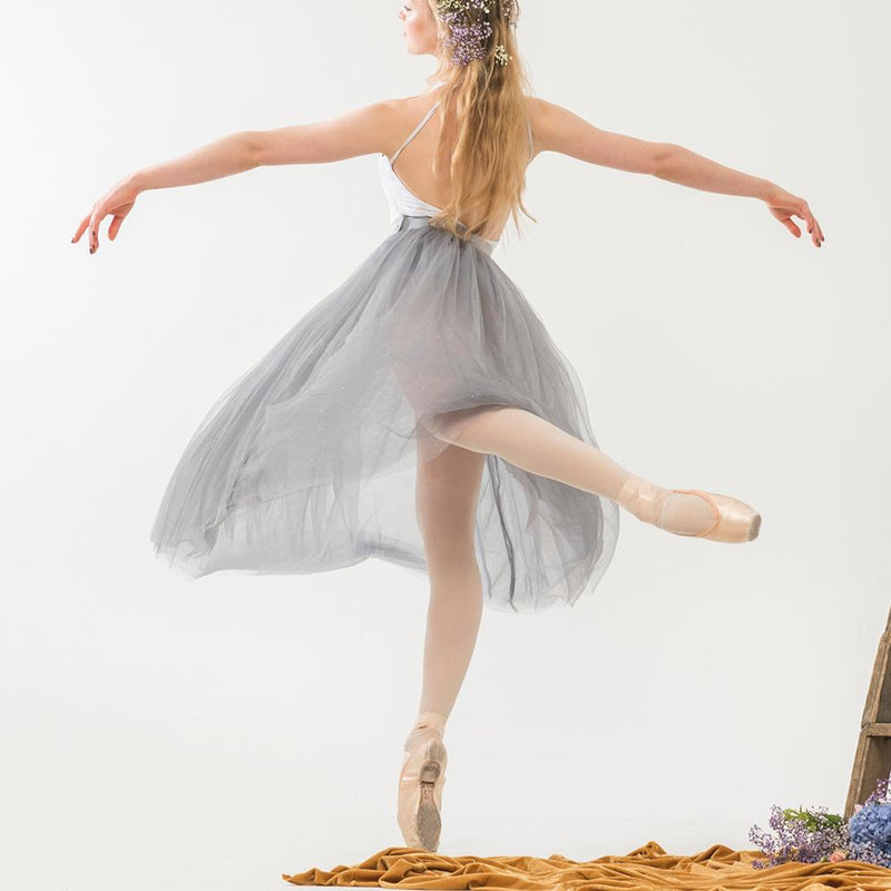 The Tulle Skirt - Grey Sparkle - Ethical dancewear and ballet clothing by Cloud and Victory