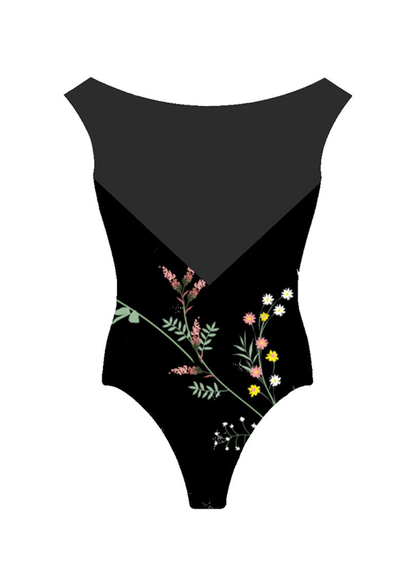 The Dark Floral Leotard - Wholesale - Ethical dancewear and ballet clothing by Cloud and Victory