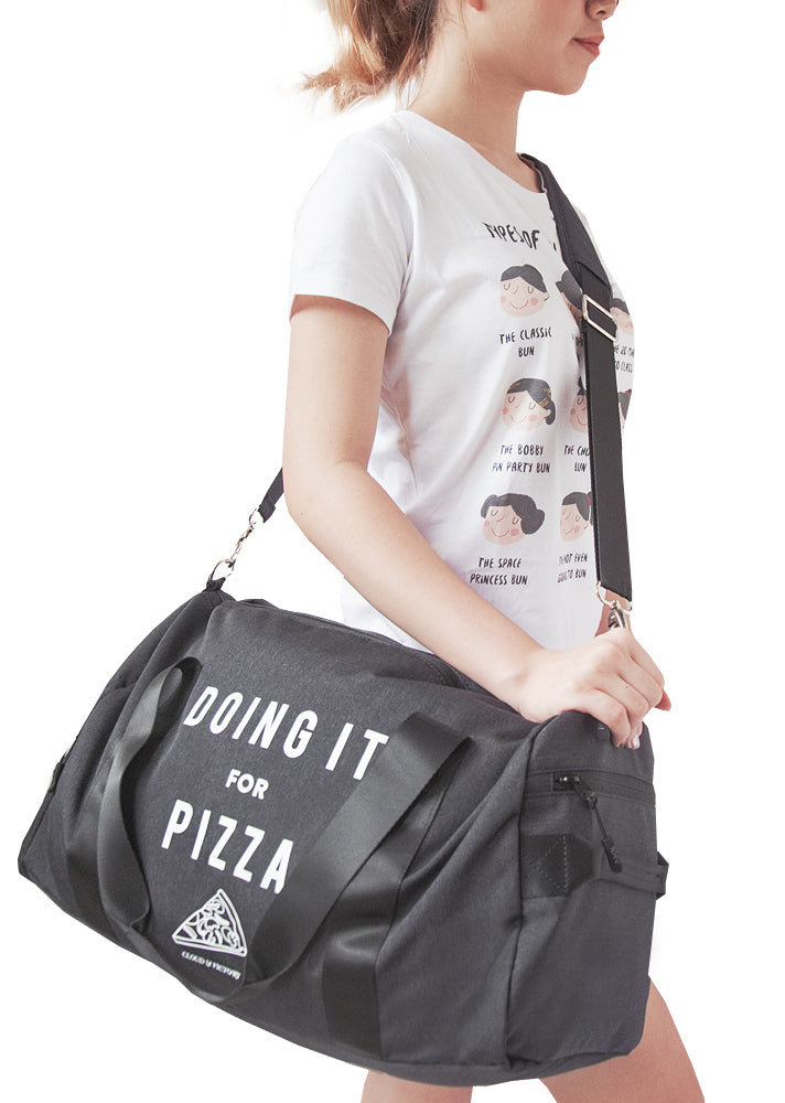 The Doing It For Pizza Dance Bag - Ethical dancewear and ballet clothing by Cloud and Victory