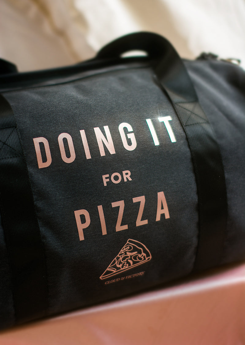 The Doing It For Pizza Dance Bag - Rose Gold Limited Edition - Ethical dancewear and ballet clothing by Cloud and Victory