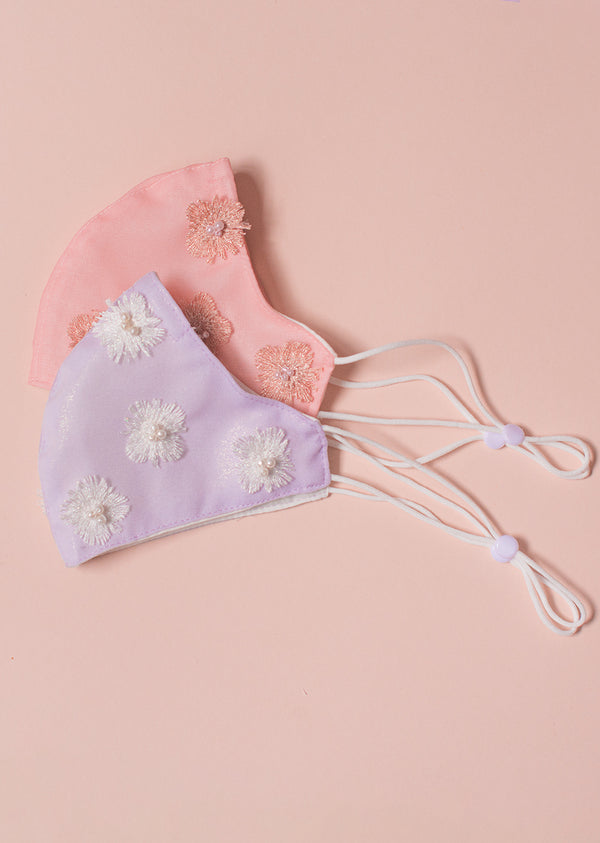 Floral and Pearl Face Mask - Ethical dancewear and ballet clothing by Cloud and Victory