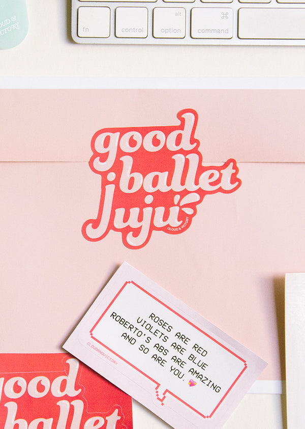 Good Ballet Juju Sticker - Ethical dancewear and ballet clothing by Cloud and Victory
