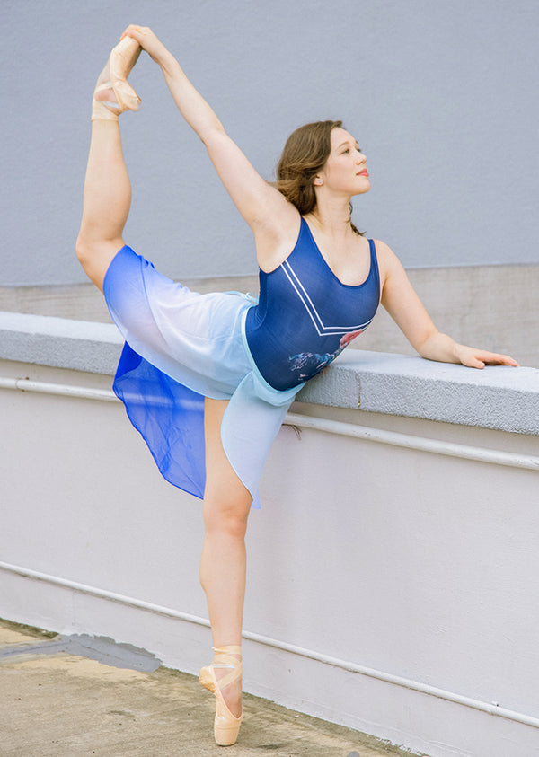 The Degradé Rehearsal Skirt - Ombré Blue