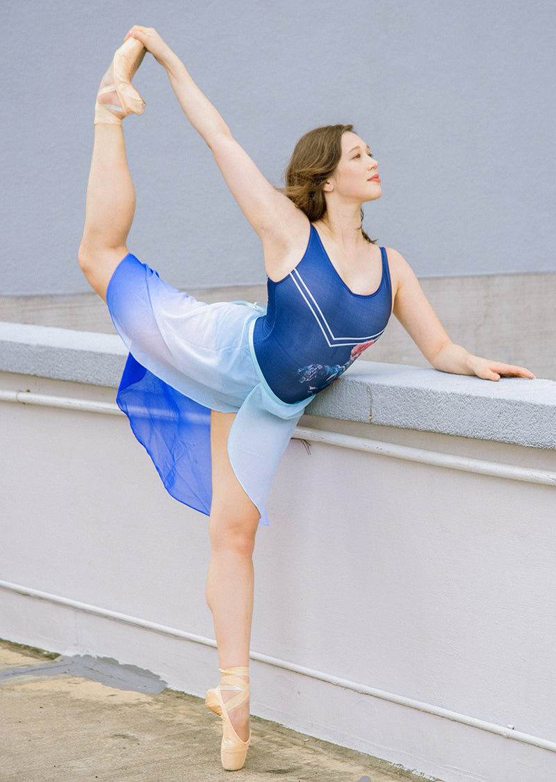 The Ombré Rehearsal Skirt - Blue - Ethical dancewear and ballet clothing by Cloud and Victory