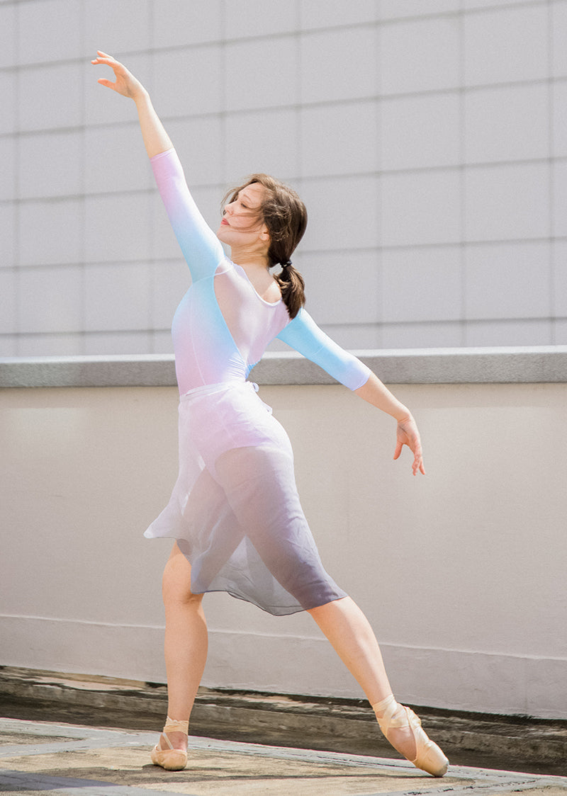 The Ombré Rehearsal Skirt - Swan - Ethical dancewear and ballet clothing by Cloud and Victory