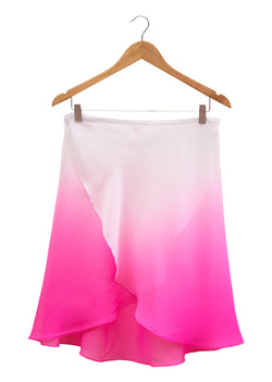 The Ombré Rehearsal Skirt - Raspberry Ripple - Ethical dancewear and ballet clothing by Cloud and Victory