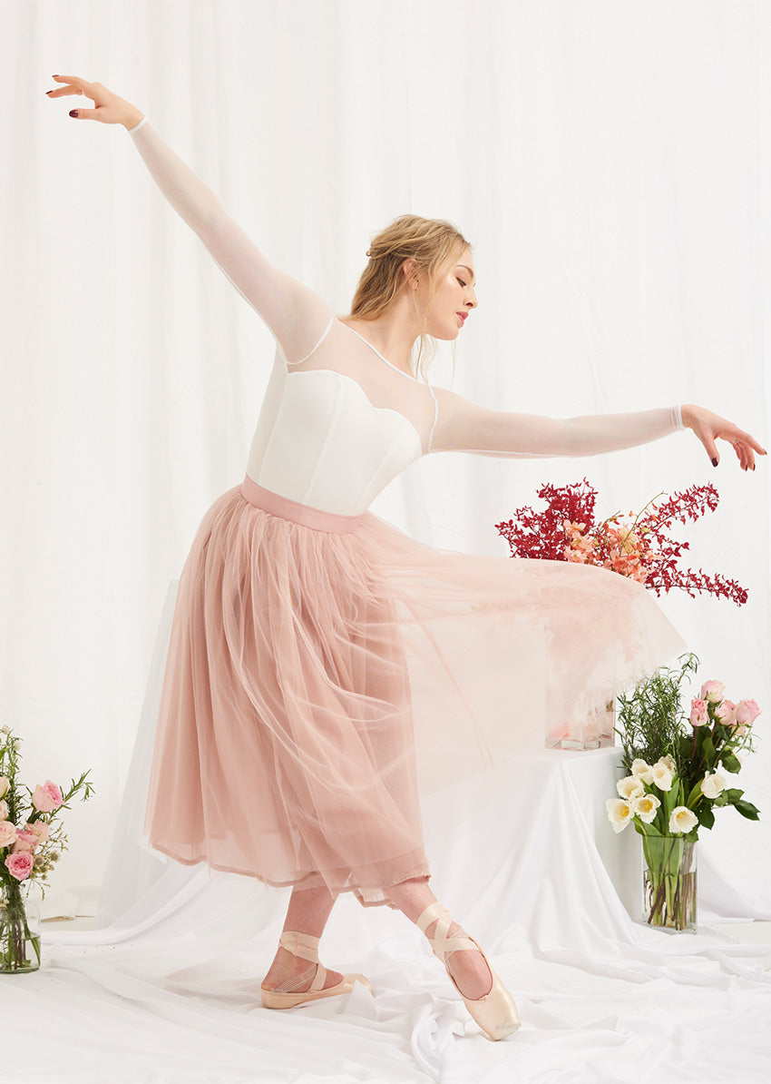 The Tulle Skirt - Rose Quartz - Cloud & Victory Ethical Ballet Clothing and Dancewear