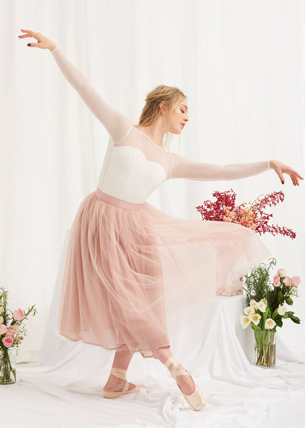 The Tulle Skirt - Rose Quartz - Ethical dancewear and ballet clothing by Cloud and Victory
